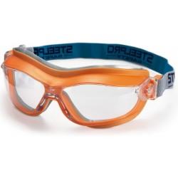 Gafa Integral ocular claro antiempañante para riesgos mecánicos. Color Naranja