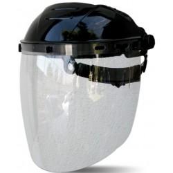 Visor fabricado en policarbonato de 2,25 mm de espesor, de alta resistencia mecánica y química