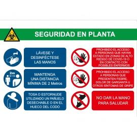 PVC / VINILO ADHESIVO SEÑALIZACIÓN ZONA COVID