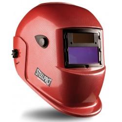 Pantalla de soldar electronica tono variable (4/9 -13). Color rojo.
